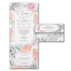 All In One Invitation: Rosy Watercolor
