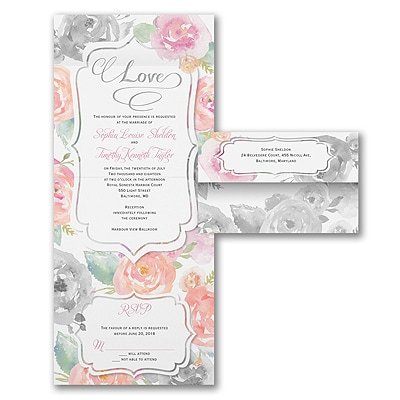 Rosy Watercolor - Seal 'n Send Invitation