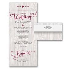 With RSVP Cards: Woodsy Arrows