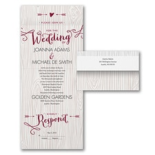 rustic invitation: Woodsy Arrows