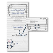 Nautical Design - Seal 'n Send Invitation