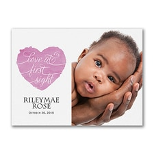 Baby Birth Announcement: Love at First Sight