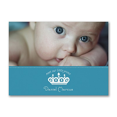 Little Prince - Photo Birth Announcement