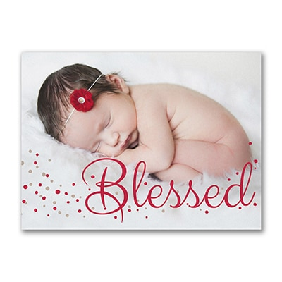 Blessed Baby - Photo Birth Announcement