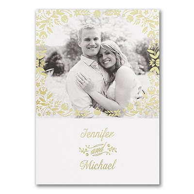 Floral Gleam - Photo Invitation