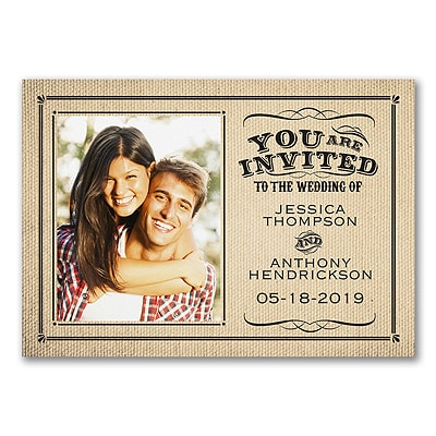 Rustic Style - Photo Invitation