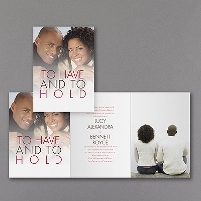 Having and Holding - Photo Invitation