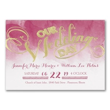 Wedding Watercolor - Invitation