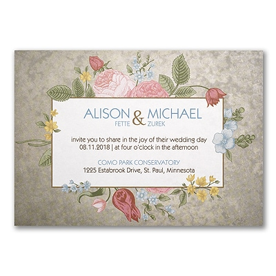 Flowery Vintage - Invitation