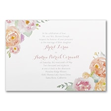 Posy Watercolor - Invitation