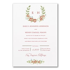 Boho Blossoms - Invitation