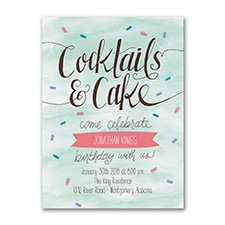 Cocktails and Cake - Invitation