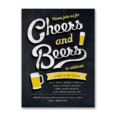 Cheers and Beers - Invitation