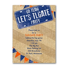 Let's Tailgate - Party Invitation