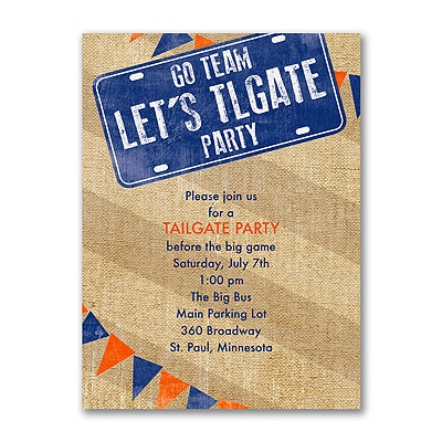 Let S Tailgate Party Invitation Other Parties Carlson Craft