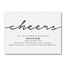 Bridal Shower Invitation: Modern Cheers