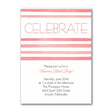 Striped Style - Party Invitation