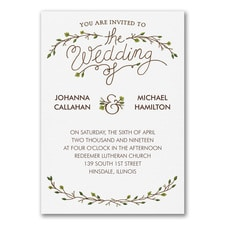 Whimsical Rustic - Invitation