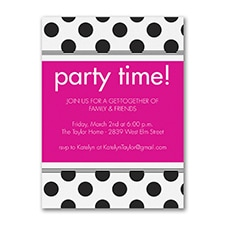 Polka Dot - Party Invitation