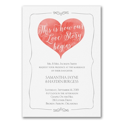 Bright Love Story - Invitation