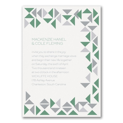 Modern Shapes Invitation Wedding Invitations Carlson Craft