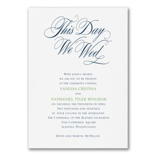 We Wed - Invitation