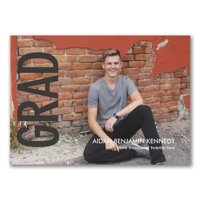 Bold Grad - Graduation Announcement