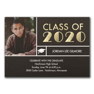 Classy Stripe - Graduation Announcement