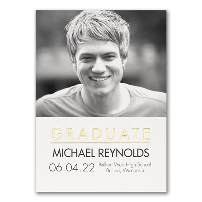 Ready to Shine - Graduation Announcement