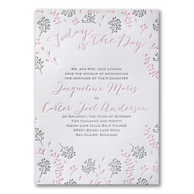 Delicate Floral - Invitation