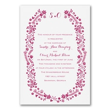 Boho Wreath - Invitation