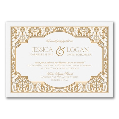 Full Damask - Invitation