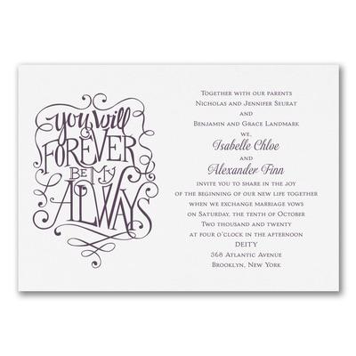 Forever Always Invitation Wedding Invitations Carlson Craft