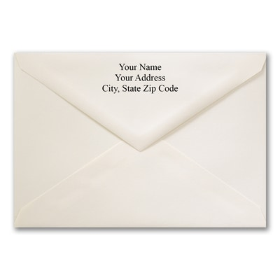 5 7/16 x 7 7/8 Jumbo Printed Outer Envelope - Ecru