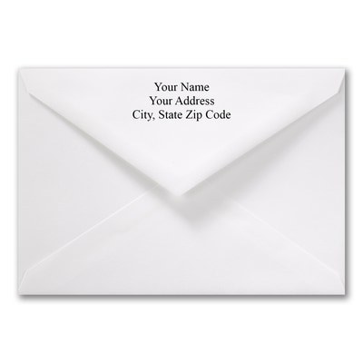 5 7/16 x 7 7/8 Jumbo Printed Outer Envelope - White