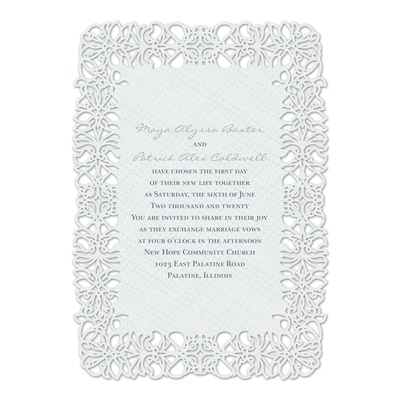 Floral Screen - Invitation