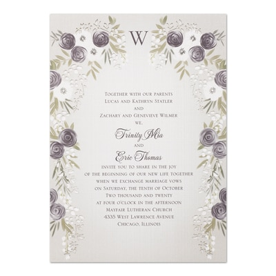 Floral Swag - Invitation