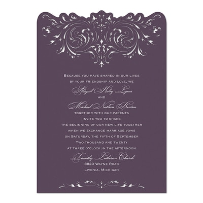 Damask and Filigree - Invitation