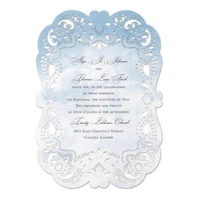 Watercolor Lace - Invitation