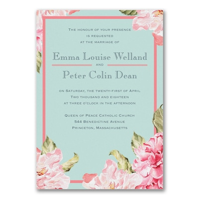 staples wedding invitations paradise garden invitation gt wedding invitations staples 7666