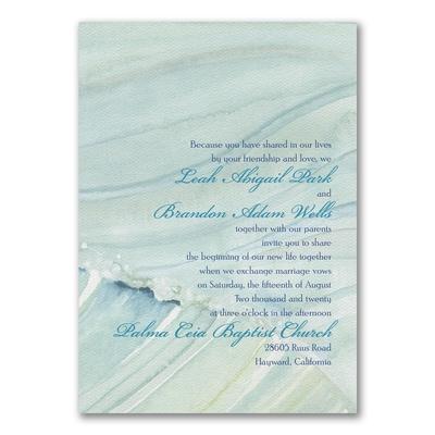 ocean waves invitation wedding invitations carlson craft