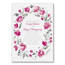 floral invitation: Watercolor Wreath