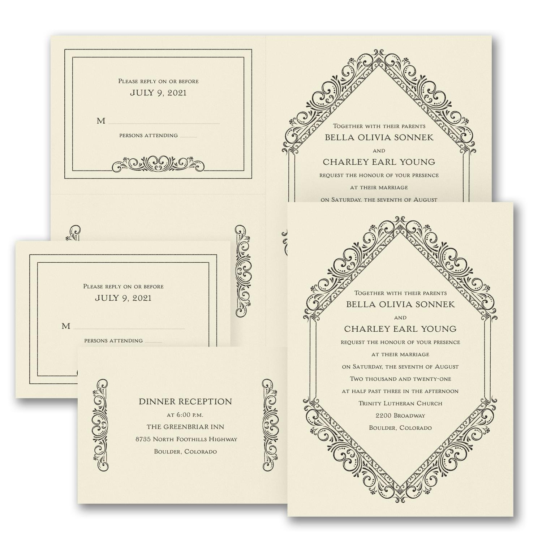 Classic Elegance - Sep \'n Send Invitation - Ecru > Wedding ...