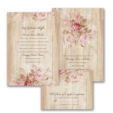 Wooden Bloom - ValStyle Invitation