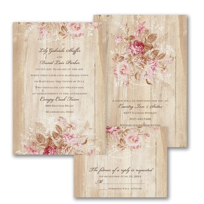 Wooden Bloom - ValStyle Invitation