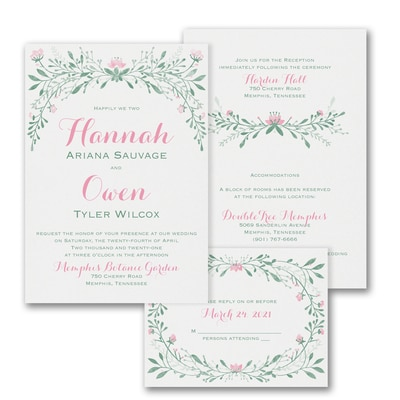 Blossoming Romance - ValStyle Invitation