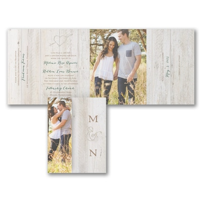 carved out love all n one invitation wedding invitations