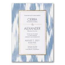 Modern wedding Invitation: Contemporary Ikat