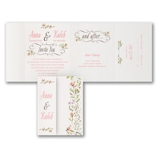 rustic invitation: Perfect Posies