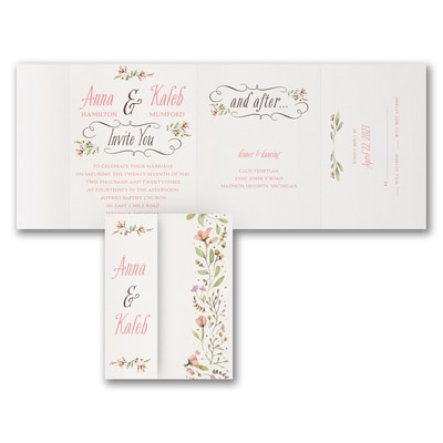 Perfect Posies - All 'n One Invitation